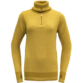 Devold Slogen Zip Neck Dame arrowwood